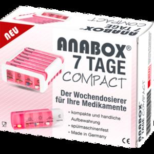 ANABOX Compact 7 Tage Wochendosierer pink/weiß