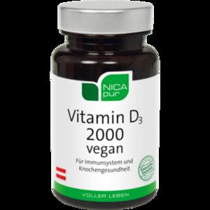 NICAPUR Vitamin D3 2000 vegan Kapseln