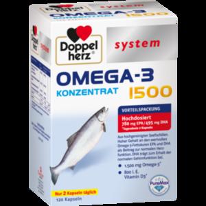 DOPPELHERZ Omega-3 Konzentrat 1500 system Kapseln