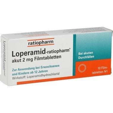Loperamid-ratiopharm® akut 2 mg Filmtabletten