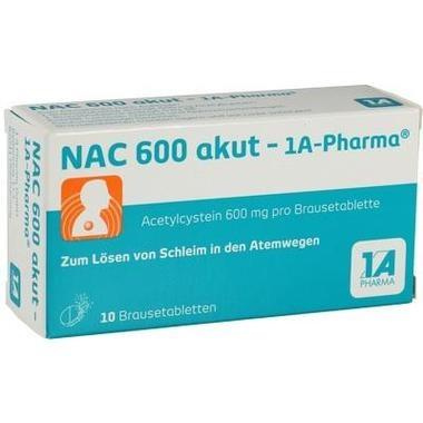 NAC 600 akut - 1A-Pharma®, Brausetbl.