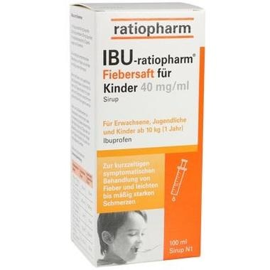 IBU-ratiopharm® 4% Fiebersaft für Kinder, 40 mg/ ml Sirup