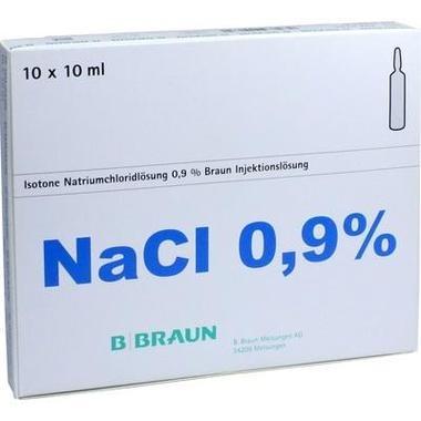 Isotone Natriumchloridlösung 0,9 % Braun Injektionslösung Glas-Amp. 10 ml