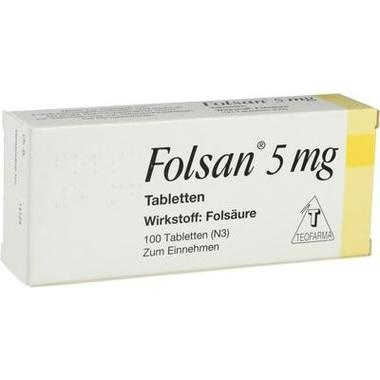 Folsan® 5 mg Tabletten