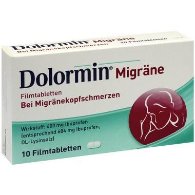 Dolormin® Migräne Filmtabletten, 400 mg Filmtabletten