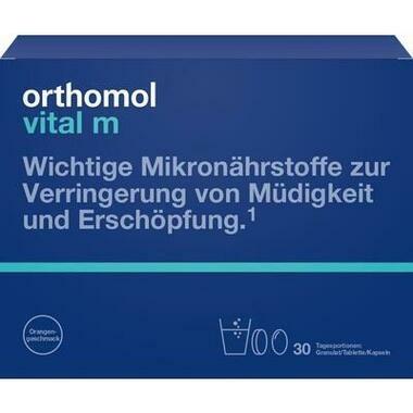 Orthomol Vital m® Granulat Orange + Kapseln