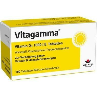 Vitagamma® Vitamin D3 1000 I.E. Tabletten