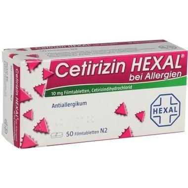 Cetirizin HEXAL® bei Allergien, 10 mg Filmtabletten
