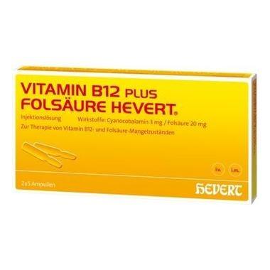 Vitamin B12-Hevert plus Folsäure-Hevert Inj.-Lsg.