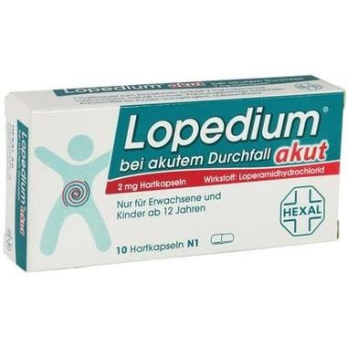 Lopedium® akut bei akutem Durchfall, 2 mg Hartkapseln
