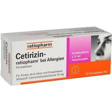 Cetirizin-ratiopharm® bei Allergien, Filmtabletten