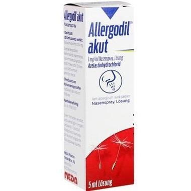 Allergodil® akut Nasenspray, 1 mg/1 ml, Nasenspray, Lösung
