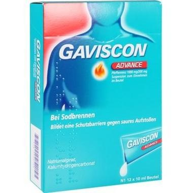 Gaviscon® Advance Pfefferminz 1000 mg/200 mg Suspension zum Einnehmen im Beutel