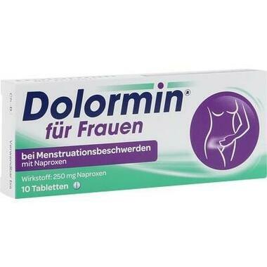 Dolormin® für Frauen bei Menstruationsbeschwerden mit Naproxen, 250mg