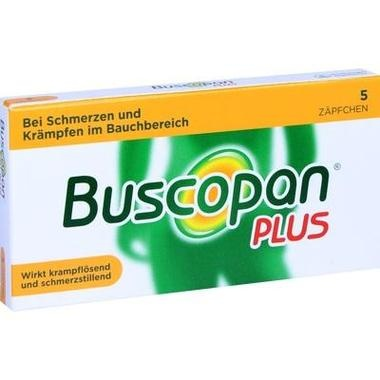 Buscopan® plus 10 mg/800 mg, Zäpfchen
