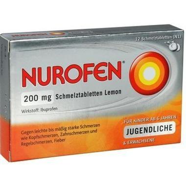 Nurofen® 200mg Schmelztabletten Lemon