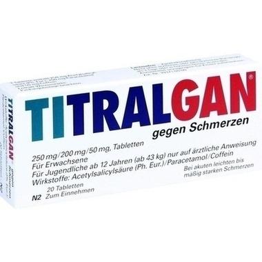TITRALGAN® gegen Schmerzen, 250 mg/200 mg/50 mg, Tabletten