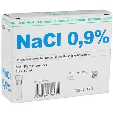 Isotone Natriumchloridlösung 0,9% Braun Mini-Plasco® connect 10ml