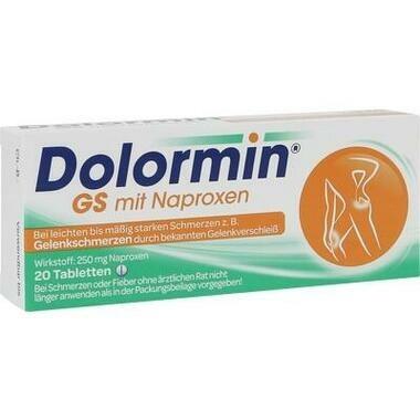 Dolormin® GS mit Naproxen, 250 mg Tabletten