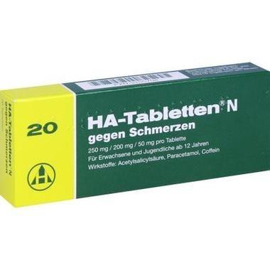 HA-Tabletten® N gegen Schmerzen