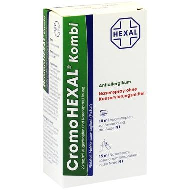 CromoHEXAL® Kombi, 20 mg/ml Augentropfen u. Nasenspray, Lösung