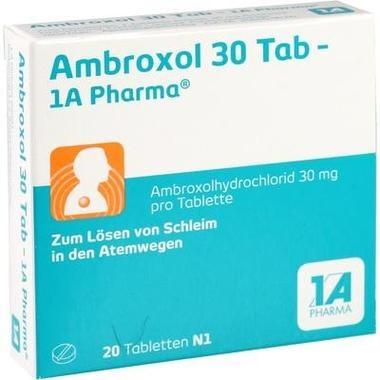 Ambroxol 30 Tab - 1A-Pharma®, Tbl.