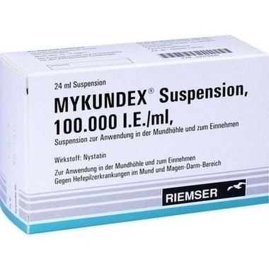 Mykundex® Suspension 100.000 I.E./ml, Suspension zur Anwendung in der Mundhöhle und zum Einnehmen