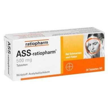 ASS-ratiopharm® 500 mg, Tabletten
