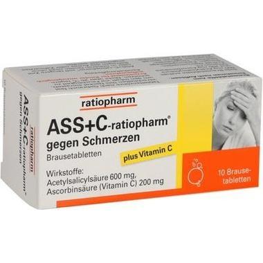 ASS+C-ratiopharm® gegen Schmerzen Brausetbl.
