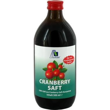 Cranberrysaft 100% Frucht