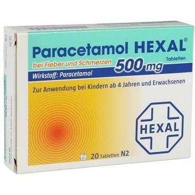 Paracetamol 500 mg HEXAL® bei Fieber und Schmerzen, Tbl.