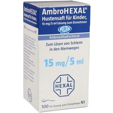 AmbroHEXAL® Hustensaft für Kinder, 15 mg/5 ml Lsg. zum Einnehmen