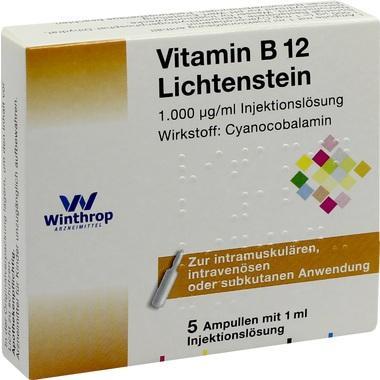 Vitamin B 12 Lichtenstein 1.000 µg/mg Injektionslösung 1 ml