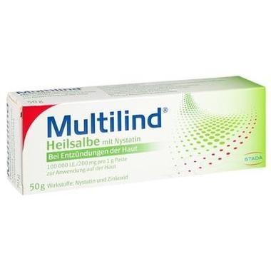Multilind® Heilsalbe m. Nystatin 100.000 I.E./200 mg / 1 g Paste z. Anw. a. d. Haut