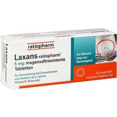 Laxans-ratiopharm® 5 mg magensaftresistente Tabletten