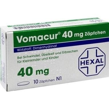 Vomacur® 40 mg, Zäpfchen