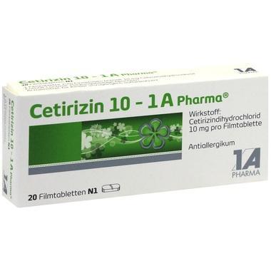 Cetirizin 10 - 1 A Pharma®, Filmtabletten