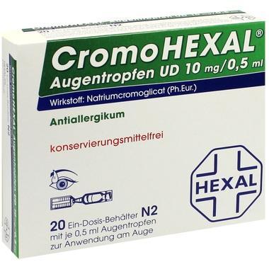 CromoHEXAL® Augentropfen UD, 10 mg/0,5 ml Augentropfen