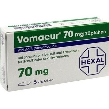 Vomacur® 70 mg, Zäpfchen