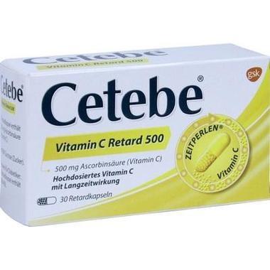 Cetebe Vitamin C Retard 500, 500 mg Hartkapsel, retardiert