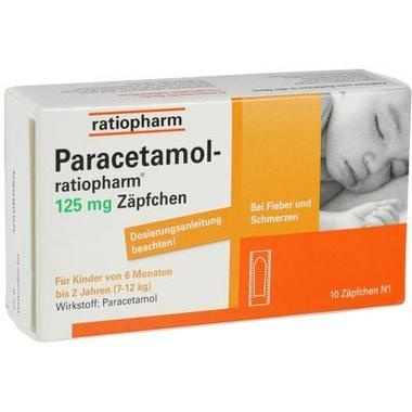 Paracetamol-ratiopharm® 125 mg Zäpfchen