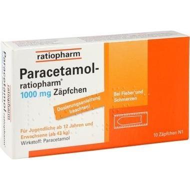 Paracetamol-ratiopharm® 1000 mg Zäpfchen