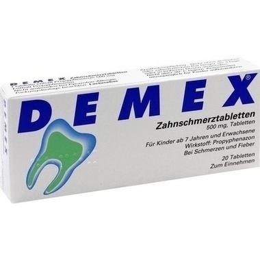 DEMEX® Zahnschmerztabletten 500 mg, Tabletten