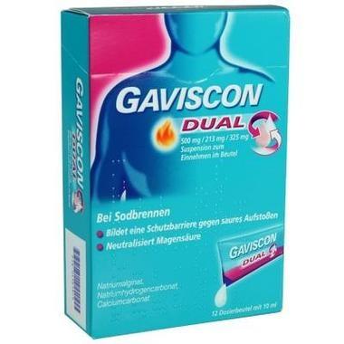 Gaviscon Dual 500mg/213mg/325mg Suspension zum Einnehmen im Beutel