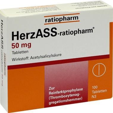 HerzASS-ratiopharm® 50 mg, Tbl.