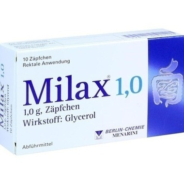 Milax® 1,0, 1 g, Zäpfchen