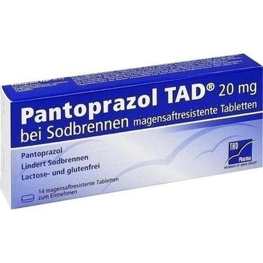 Pantoprazol TAD® 20 mg bei Sodbrennen magensaftresistene Tabletten