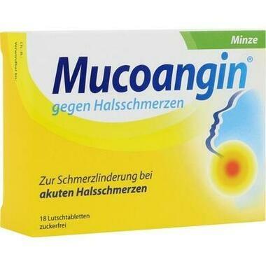 Mucoangin® gegen Halsschmerzen Minze, 20 mg/Lutschtablette