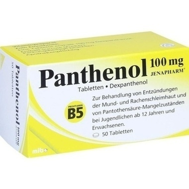 Panthenol 100 mg JENAPHARM®, Tabletten