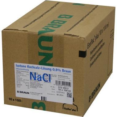 Isotone Kochsalzlösung 0,9% Braun Ecoflac® Plus 100ml